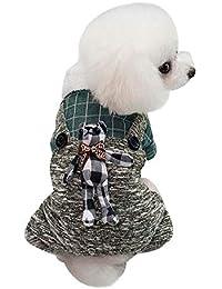 Gusspower Abrigo Perro Invierno Mascota Chaqueta De Abrigo de algodón Grueso Ropa Perro Pequeño Mediano
