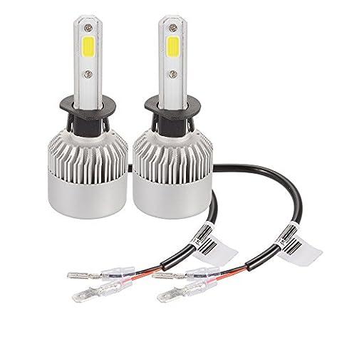 XCSOURCE Ampoule Lampe Halogène H1 20000LM 200W CREE LED Phare de voiture Ventilateur Intégré 6500K Blanc LD1031