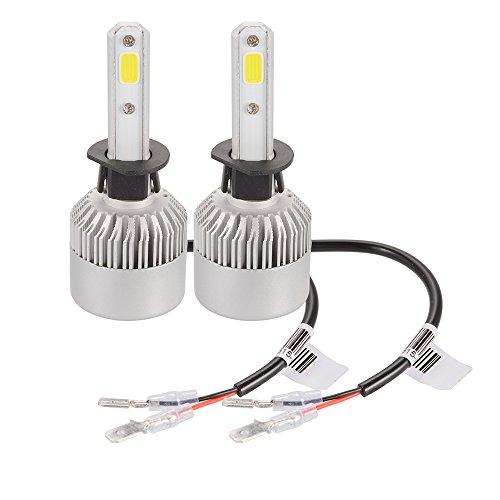 XCSOURCE 20000LM 200W CREE LED coche faro H1 bombilla de halógeno incorporado en el ventilador de refrigeración 6500K blanco LD1031