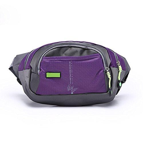 Yookoon marsupio borsa a tracolla singola borsa a tracolla grande capacità per montagna campeggio attività all' aperto, donna Bambino Uomo unisex, Black Purple