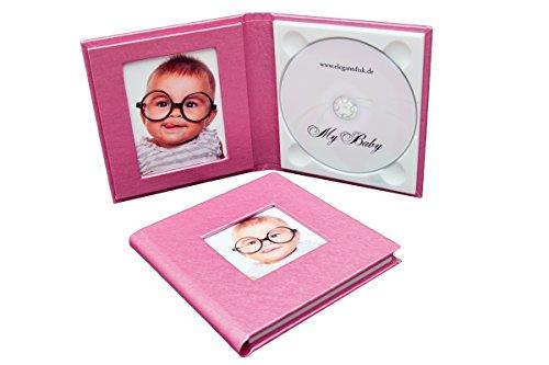 Hochzeit-dvd-hülle (1er CD/DVD Hülle. Baby-Case 1 Disk mit 1 Bildfenster. Kunstleder. Farbe Pink)