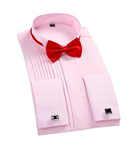 Cloud Style Herren Freizeit-Hemd Rosé