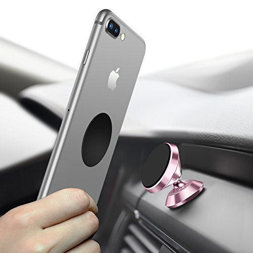 Universal Handyhalterung Auto Magnet, Humixx 360 °Einstellbare Smartphone Halterung Auto für iPhone 6 6s 7 7Plus, Samsung Galaxy S7 S8, HTC (Rose Gold)