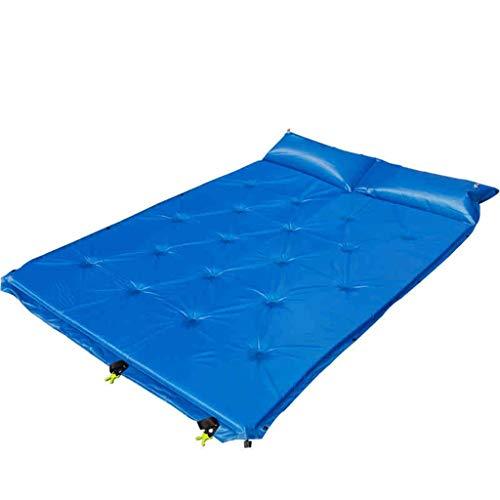 GUOQI Feuchtigkeitsbeständige Auflage PVC-Material Einfaches Männliches Im Freien Blauer Park Ultraleichte Weibliche Einzelzelt Aufblasbares Kissen