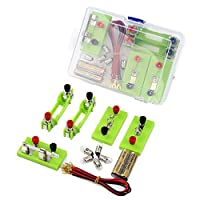 Whiie891203 Educational DIY Toys,Electrical Parallel Circuit Lighting Small Bulb Physics Experiment Equipment Set Early Learning Toy for Kids and Adults, Birthday & Christmas Gift Choice