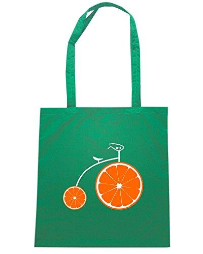 T-Shirtshock - Borsa Shopping T0873 aperol bicycle bevande sballo Verde