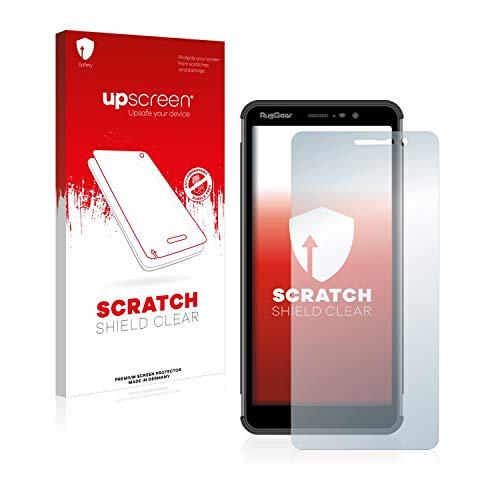 upscreen Scratch Shield Schutzfolie kompatibel mit RugGear RG850 - Kristallklar, Kratzschutz, Anti-Fingerprint
