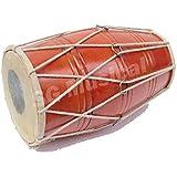 SG Musical Mango Wood Bolt Tuned Dholak (Orange)