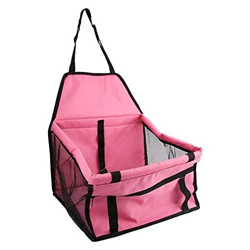 DEWIN Car Pet Seat - Faltbarer Car Pet Dog Sitzbezug Oxford Stoff Pet Carrier Mesh Basket Schwarz Pink -