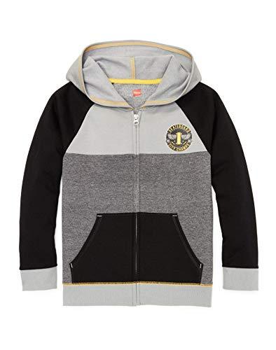 Hanes Boys Graphic Fleece Colorblock Full Zip Hoodie (D266) -Skate Cham -S Boys Graphic Fleece