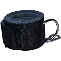 Grofitness - Correas de tobillo acolchadas con anilla de metal en D y gancho para poder engancharlas a una máquina de musculación