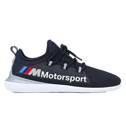 PUMA BMW MMS EVO Cat Racer Herren Low Boot Sneaker Schwarz-Silber, tamaño:42.5