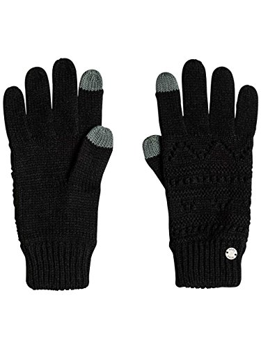 Roxy Girl Challenge Guantes de Punto, Mujer, Negro (Anthracite Solid), Talla Única