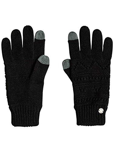 Roxy challenge, guanti a maglia donna, nero, taglia unica