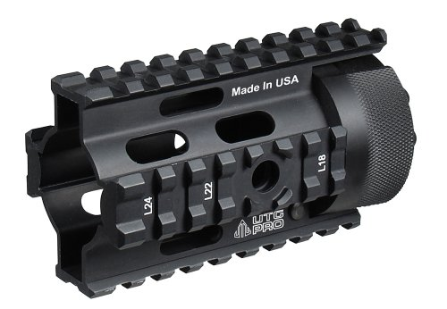 UTG PRO Made in USA AR Pistol 4' Free Float Quad Rail System MTU008 (Quad Ar Rail)