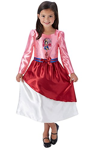 Rubie's Offizielles Girl 's Disney Princess Märchen Mulan Kostüm - groß (Dress Up Tag Kostüm)