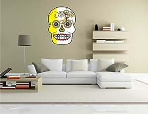 WTD sticker mural motif tête de mort-skull vatican vatican-sticker mural, multicolore, 70 x 95 cm