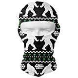 Xukmefat Bigfoot Ugly Christmas Holiday Sweater Balaclava UV Protection Windproof Ski Face Masks for Cycling Outdoor Sports Full Face Mask Breathable