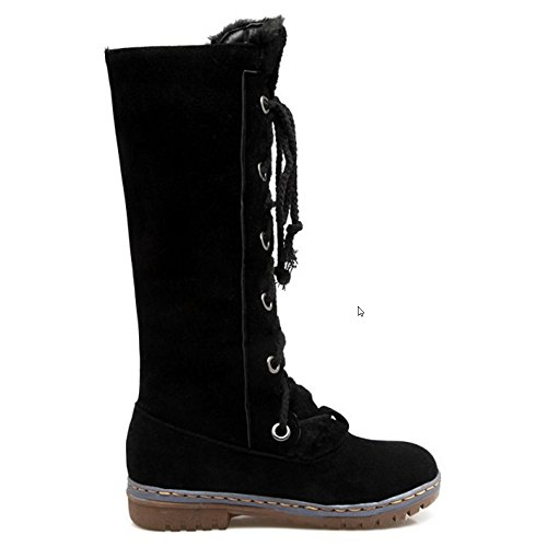 RAZAMAZA Stivaletti Inverno Donna Comodo Pull On Scarpe Stringate Black