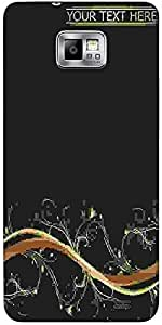 Snoogg Abstract Background Protective Case Cover For Samsung Galaxy S2