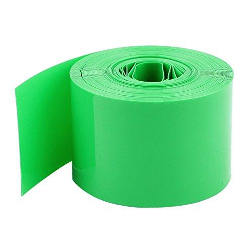 sourcingmap 5M 16Ft 29,5 mm Grün PVC Hitze schrumpfen Schläuche Wrap Cover für 1x18650 Akku (Ärmel 29.5)