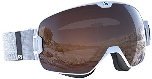 Salomon x max access, occhiale da sci unisex – adulto, bianco, taglia unica
