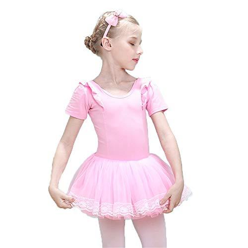 Moderne Kostüm Für Tanz Zeitgenössische - Kinder Tanzkleid Röcke Kinder Mädchen Kurzarm Tüll Tutu Röckchen Trikot Rüschen Baumwolle Skating Performance Tanz Ballettkleid Gymnastik Ballerina Dancewear Kostüme Modernes zeitgenössisches lyrische