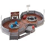Disney Pixar Cars Coffret circuit Thunder Hollow transportable, piste en 8 pour mini voitures avec mini-véhicule Flash McQueen, jouet pour enfant, FLG71