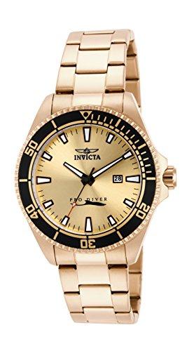 Invicta 15186 Pro Diver Reloj para Hombre acero inoxidable Cuarzo Esfera oro