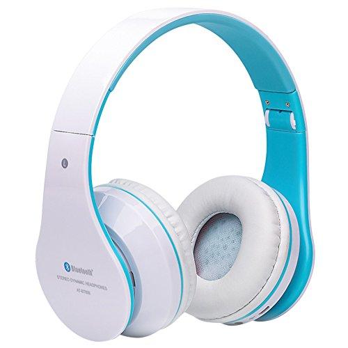 Faltbare Kabellose Bluetooth-Over-Ear Stereo Kopfhörer Headset Unterstützt TF Karte, blau (Computer-lautsprecher Grünes Licht)