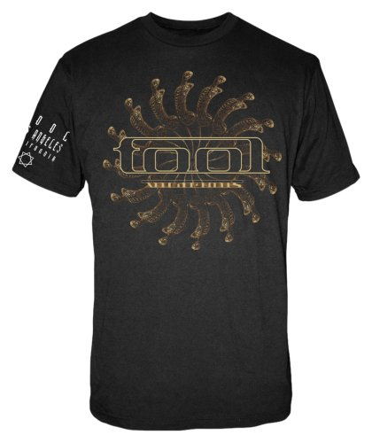 FEA - Camiseta - Hombre de color Negro de talla Medium - Old Glory - Tool - Uomo Spectre Spiral (Camiseta) Medium Nero