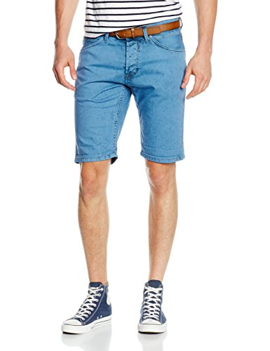 TOM TAILOR Denim Herren Jeanshose Atwood Regular Denim Bermuda Blau (light blue 6692)