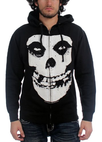 The misfits - Fiend Teschio con zip Uomo Felpa con cappuccio in nero Black Medium