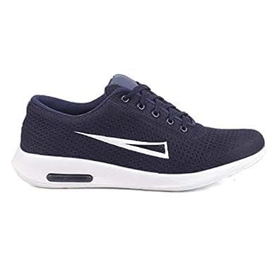 Tortals Men's Casual Canvas Running Shoes (10, Blue)