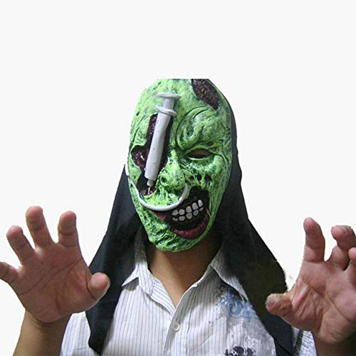 Assassin's 3 Figur Creed Kostüm - WSJDE Halloween Horror Maske Ekelhaft Blutige Maske Kostüm Party Scare Props Scared Face Assassins Creed Cosplay Anonymer Maskenstreich3