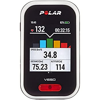 Polar V650 Bike Computer con GPS integrato e fascia cardio, Bianco