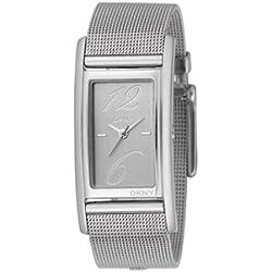 Dkny NY3992 - Reloj con correa de acero para mujer, color plateado/gris