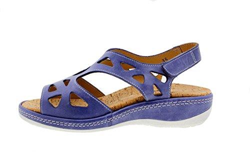 Scarpe donna comfort pelle PieSanto 1905 Sandali Plantare Estraibile larghezza speciale Jeans