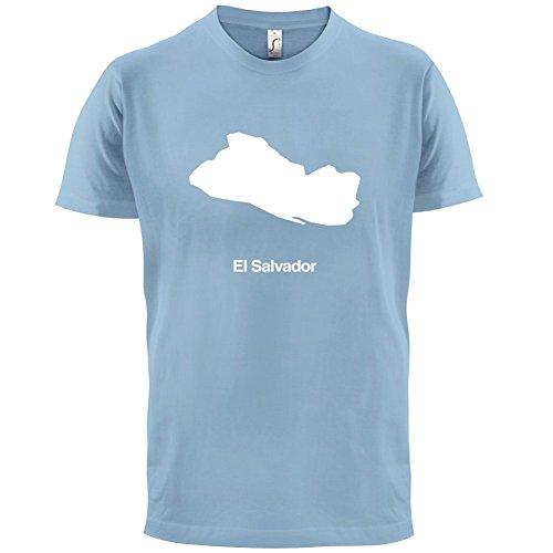 El Salvador / Republik El Salvador Silhouette - Herren T-Shirt - 13 Farben Himmelblau
