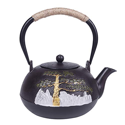 Japanische Roheisen-Teekanne Mit Infuser Für Losen Tee, Oxidations-Behandlung Der Hohen Temperatur Der Inneren Wand, Kunst-Tee-Topf Als Geschenk 1.2 L,Pot