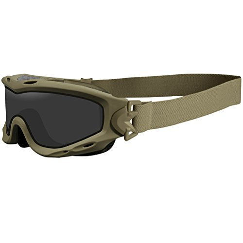 Wiley X Spear Schutzbrille Dual Smoke Grey Klare Light Rust Linsen Matte Tan Rahmen