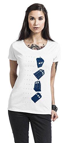 Doctor Who Damen T-Shirt Twisting Tardis Baumwolle Weiß Weiß