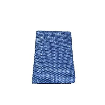 Führerscheinetui Crochet D.blau aus echtem Rindleder mit herausnehmbarem Kunststoffmäppchen