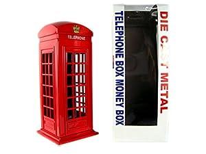 Money Boxes 784311757517 - Caja de teléfono (Hecha de Metal Fundido), diseño de Londres, Color Rojo
