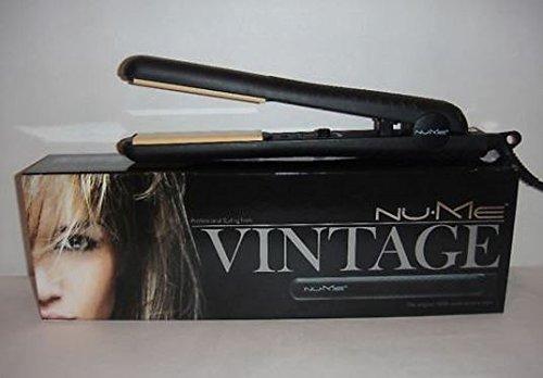 Nume Vintage Classic negro pelo cabello alisado soporte de hierro