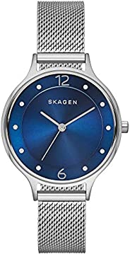 Skagen Anita Women's Blue Dial Stainless Steel Analog Watch - SKW