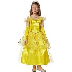 dressforfun 900349 Disfraz para chica Princesa Belle, Precioso vestido de Princesa con Aspecto de tela de Tul y Organza (116 | no. 301732)