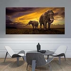 Generic Elephant Dawn Landscape Diamond Cross Stitch DIY New 5D Diamond Paintings