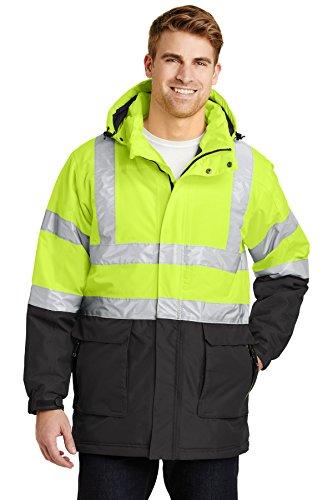 Port Authority® ANSI 107 Class 3 Safety Heavyweight Parka. J799S Safety Yellow/ Port Authority Heavyweight Parka