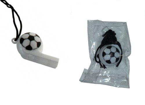 Kaufen-schenken-spielen 12 Fußball-Trillerpfeifen Kindergeburtstag Sport
